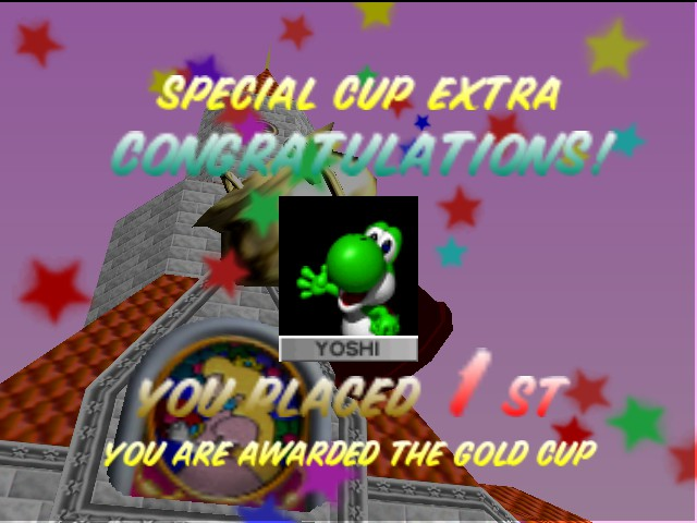 Mario Kart 64 - special cup extra the end - User Screenshot